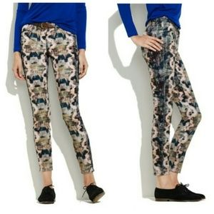 Madewell Snakeskin Print Skinny Skinny Ankle Jeans